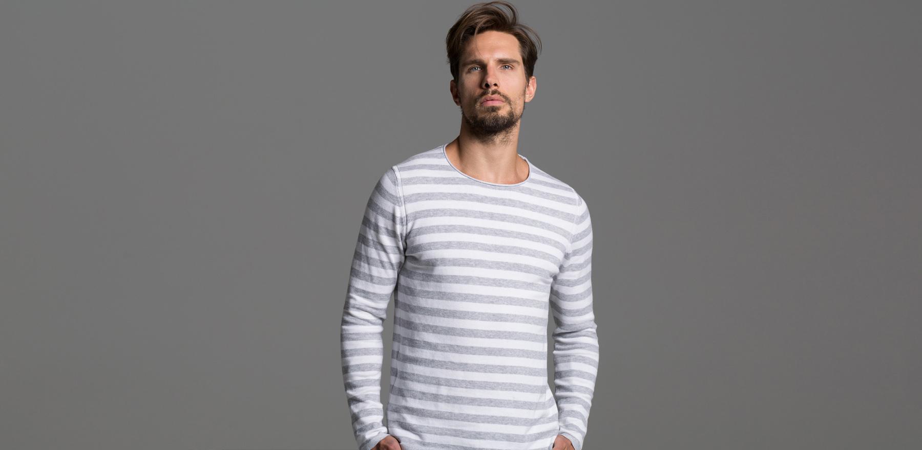 Frühjahr-Sommer 2017 Streifen Pullover